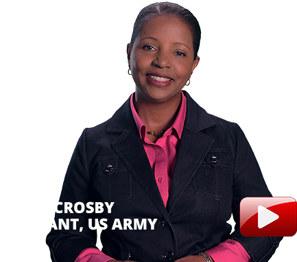 Sonja Crosby, Sargent, US Army