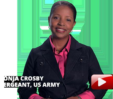 Sonja Crosby, Sargent, US Army